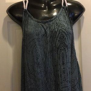 Dresses & Skirts - Sleeveless Grayish Blue Maxi Dress